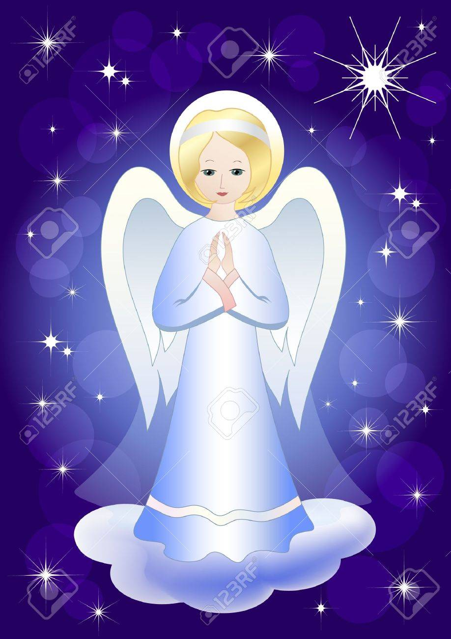 Angel and Christmas star. Vector illustration. EPS10. Stock Vector - 11647879