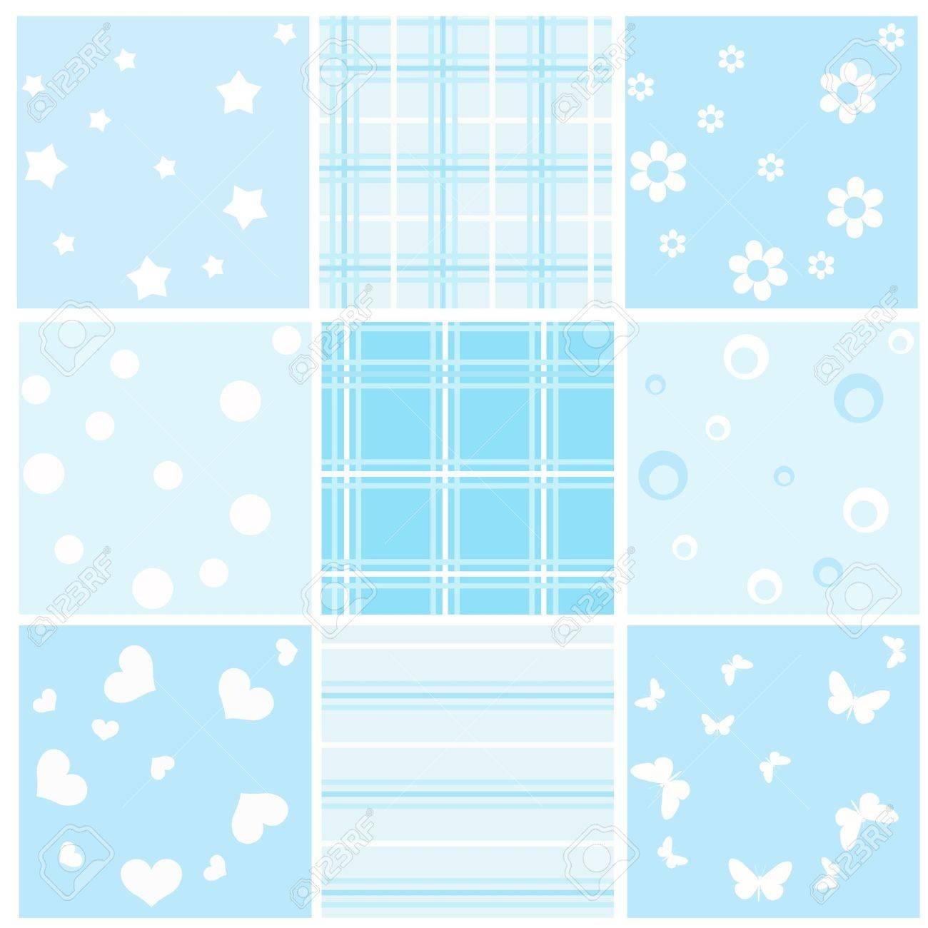 Set blue baby seamless. Vector  illustration. Stock Vector - 11647929