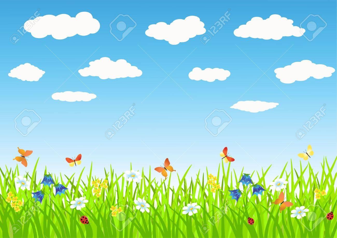 Meadow. Summer morning. Vector illustration. Stock Vector - 11647753