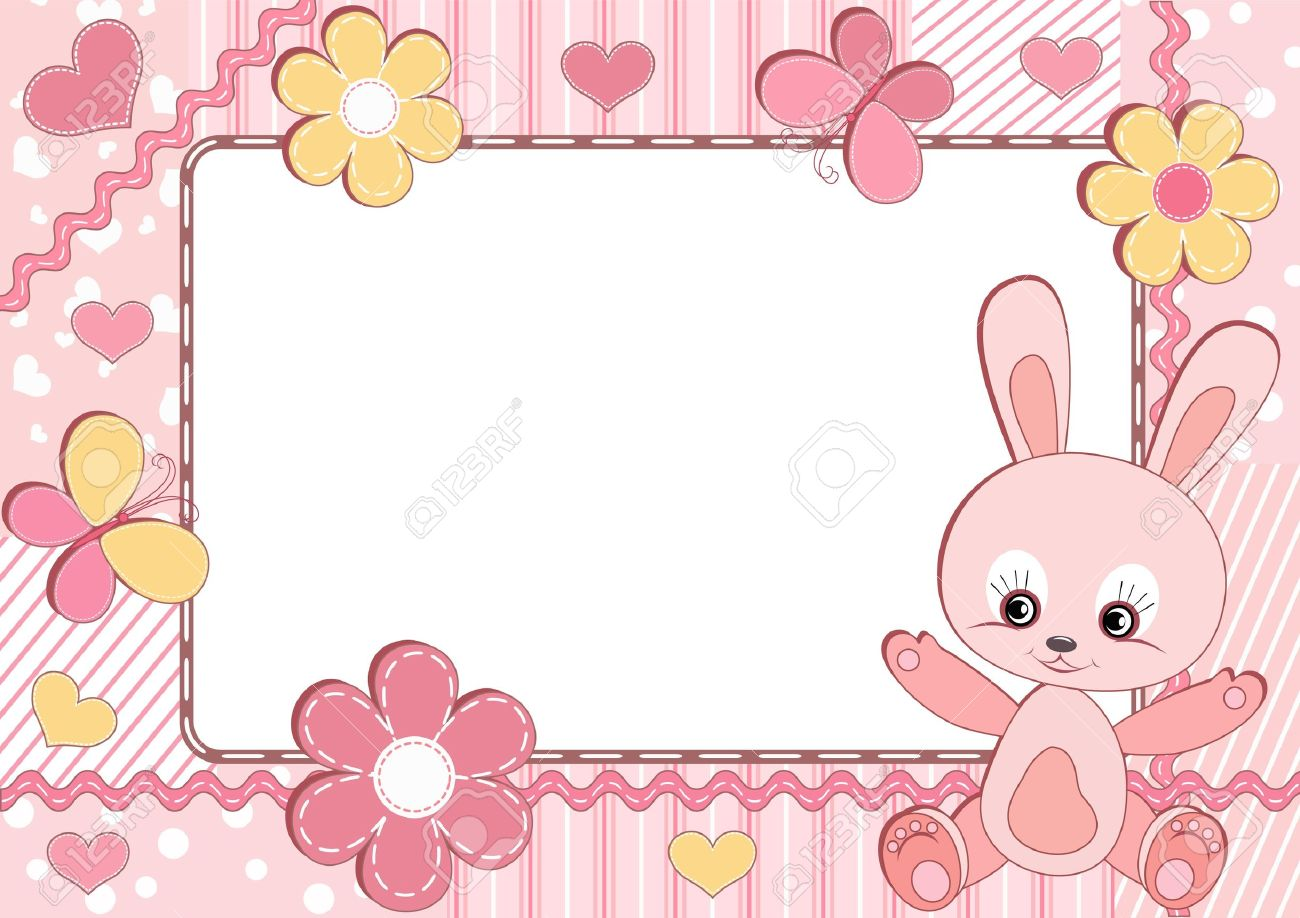 Baby Frame. Rabbit. Royalty Free Cliparts, Vectors, And Stock ...