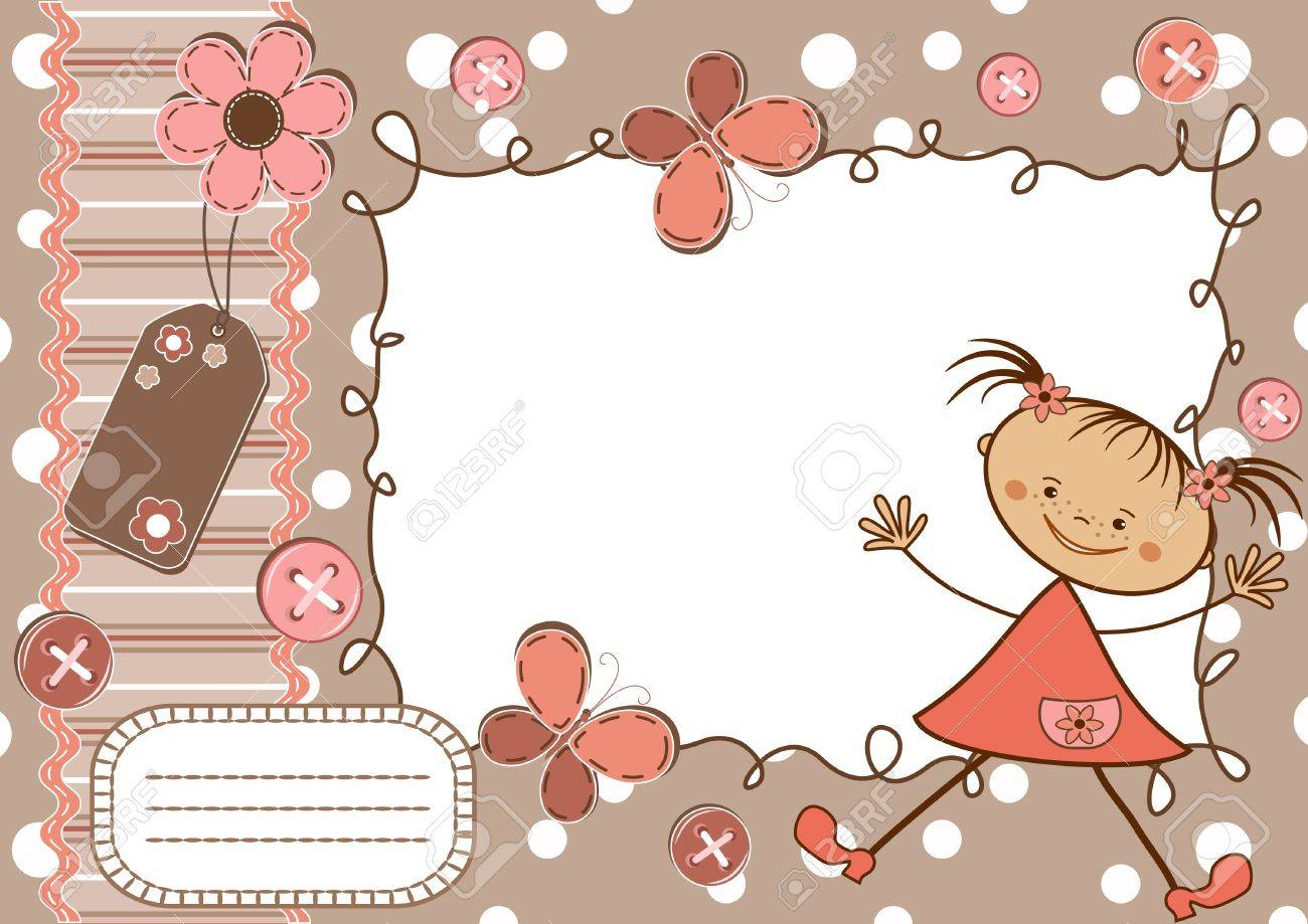 Page for scrapbook. Stock Vector - 12485201