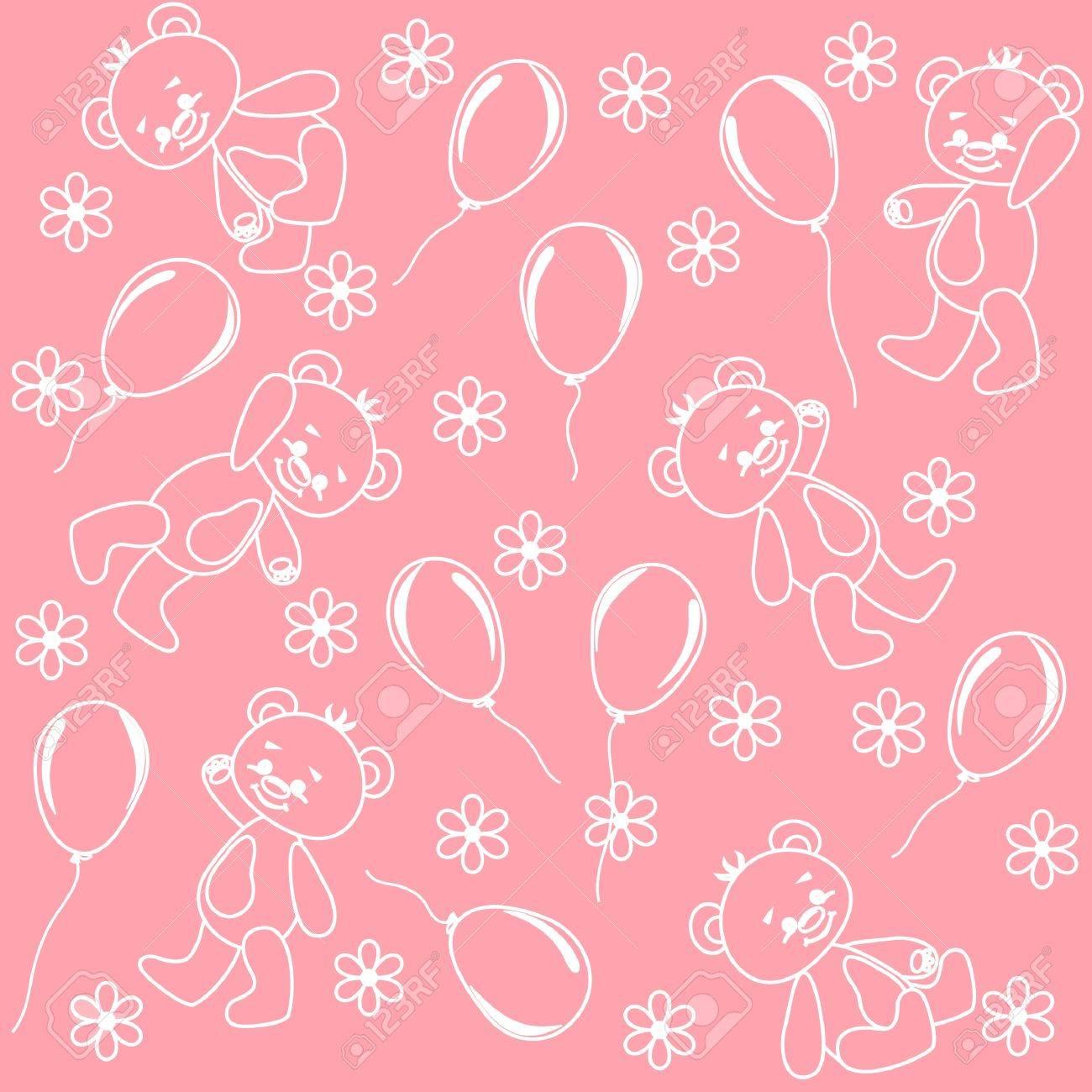 Seamless. Baby bears. Stock Vector - 12484949