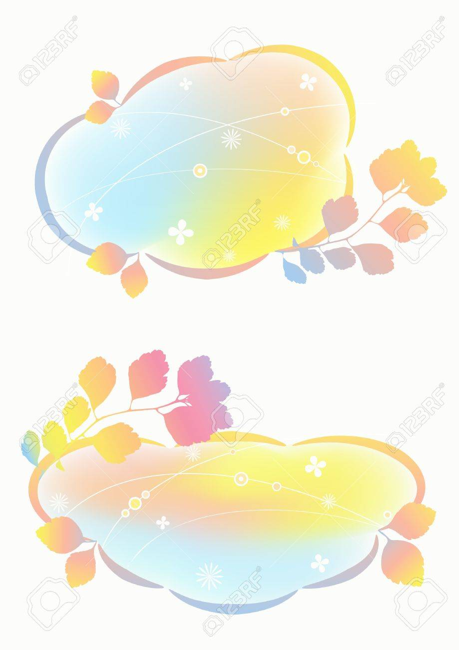 Airy pastel backgrounds Stock Vector - 12487648