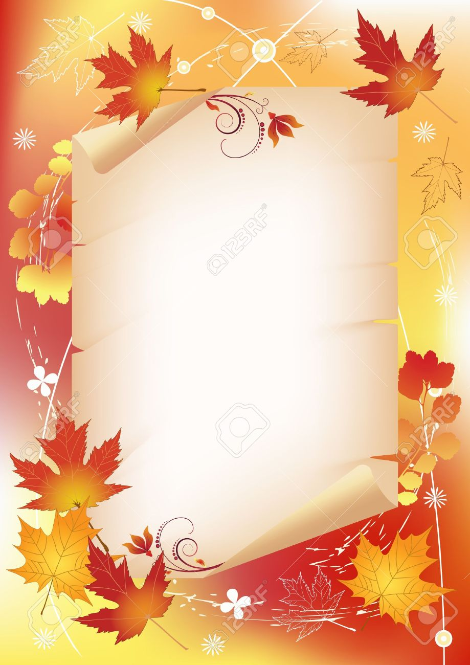 Autumn background with place for your text Stock Vector - 13681263