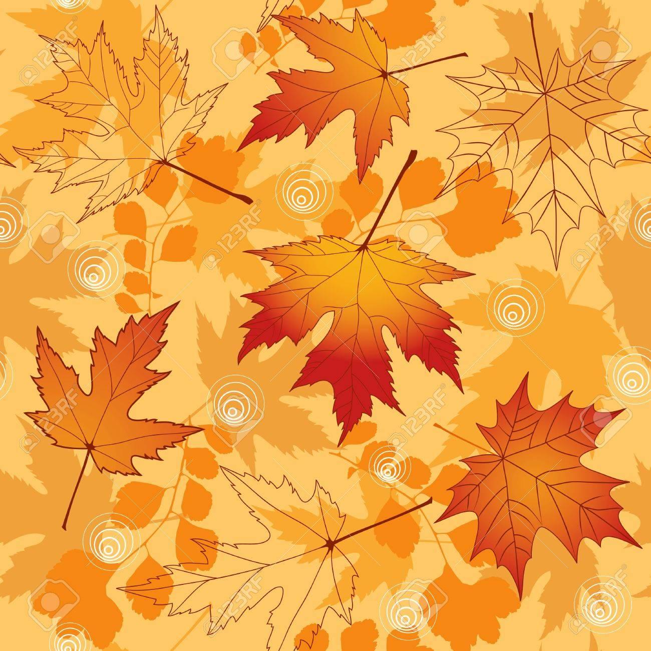 Autumn seamless Stock Vector - 13673368