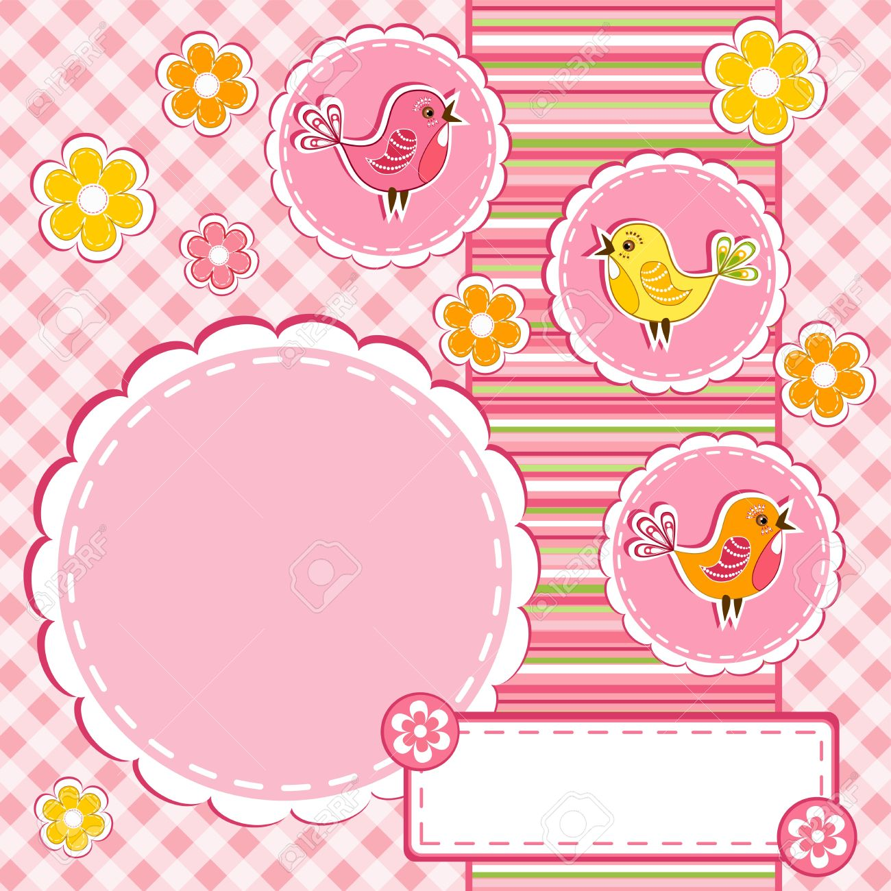 Baby album page Stock Vector - 14155795