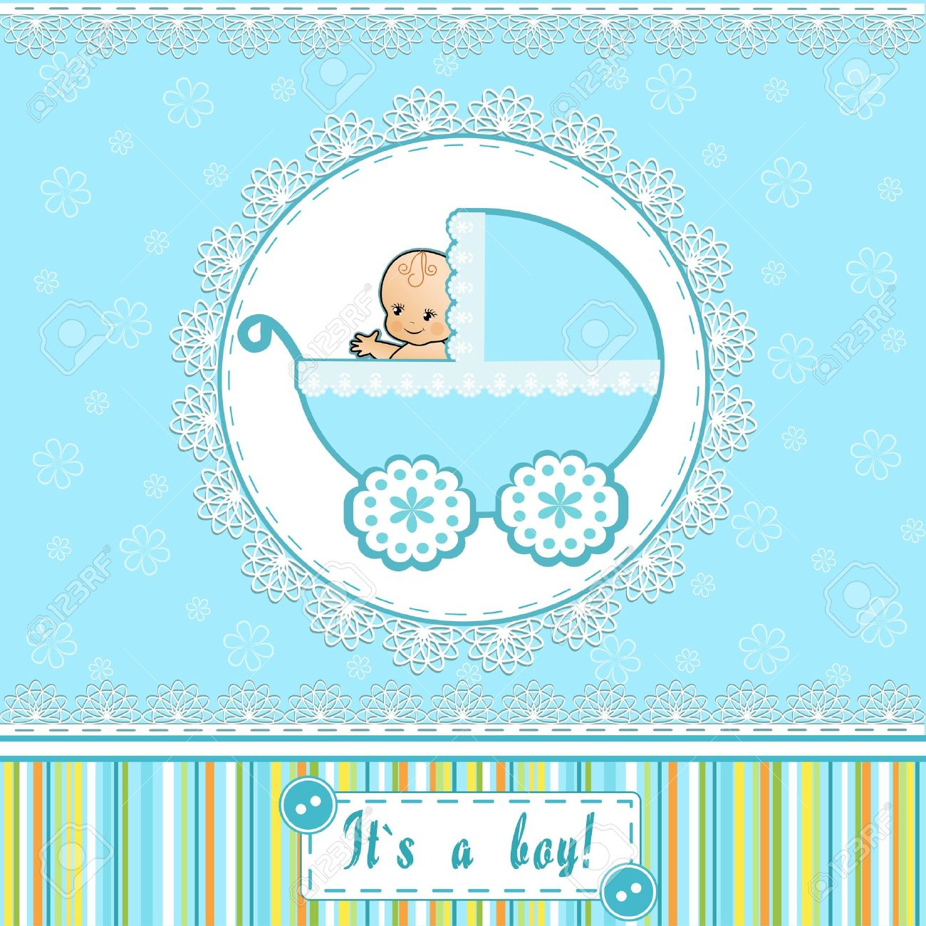Baby Shower Card Vector Illustration Royalty Free Cliparts, Vectors ...