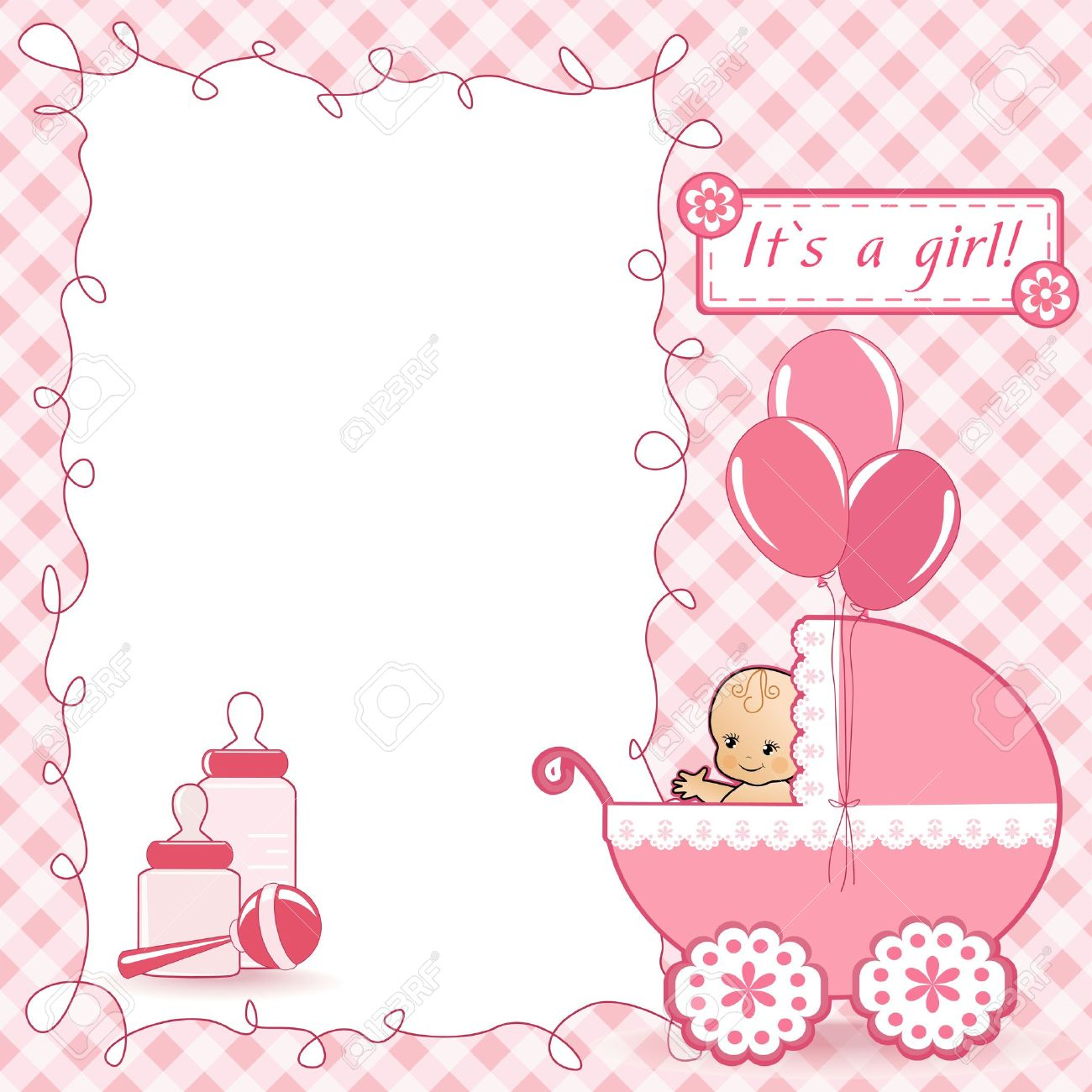 baby shower card stock vector