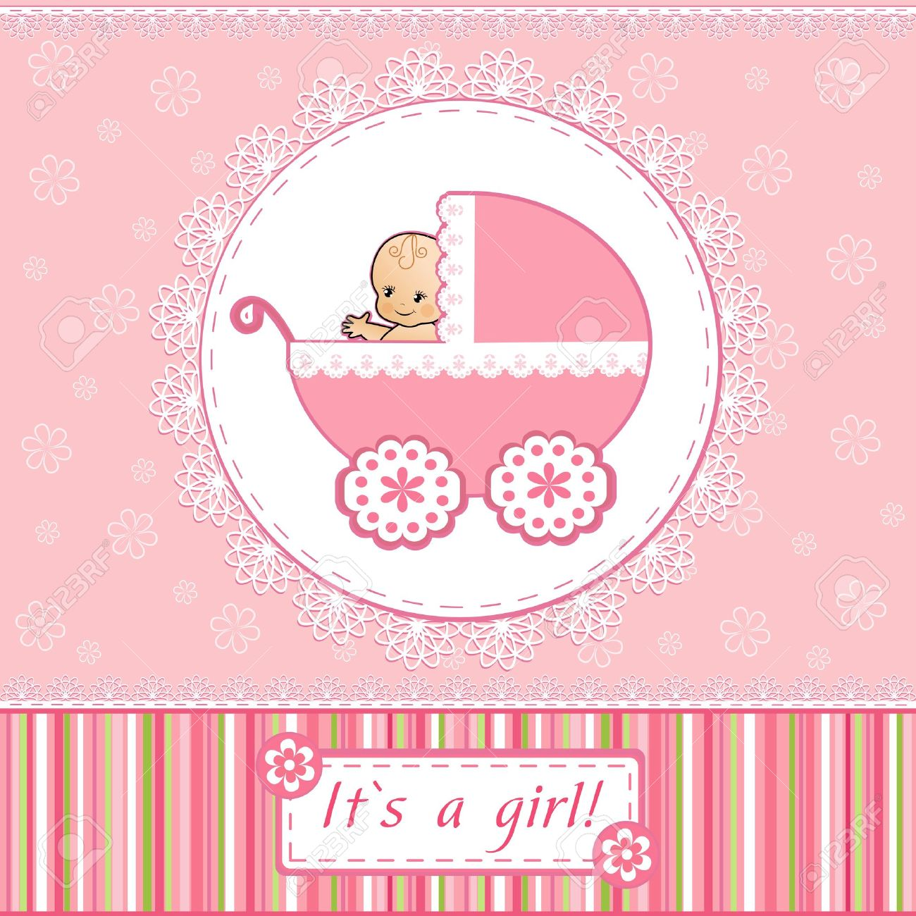 Baby Shower card Stock Vector - 14155942