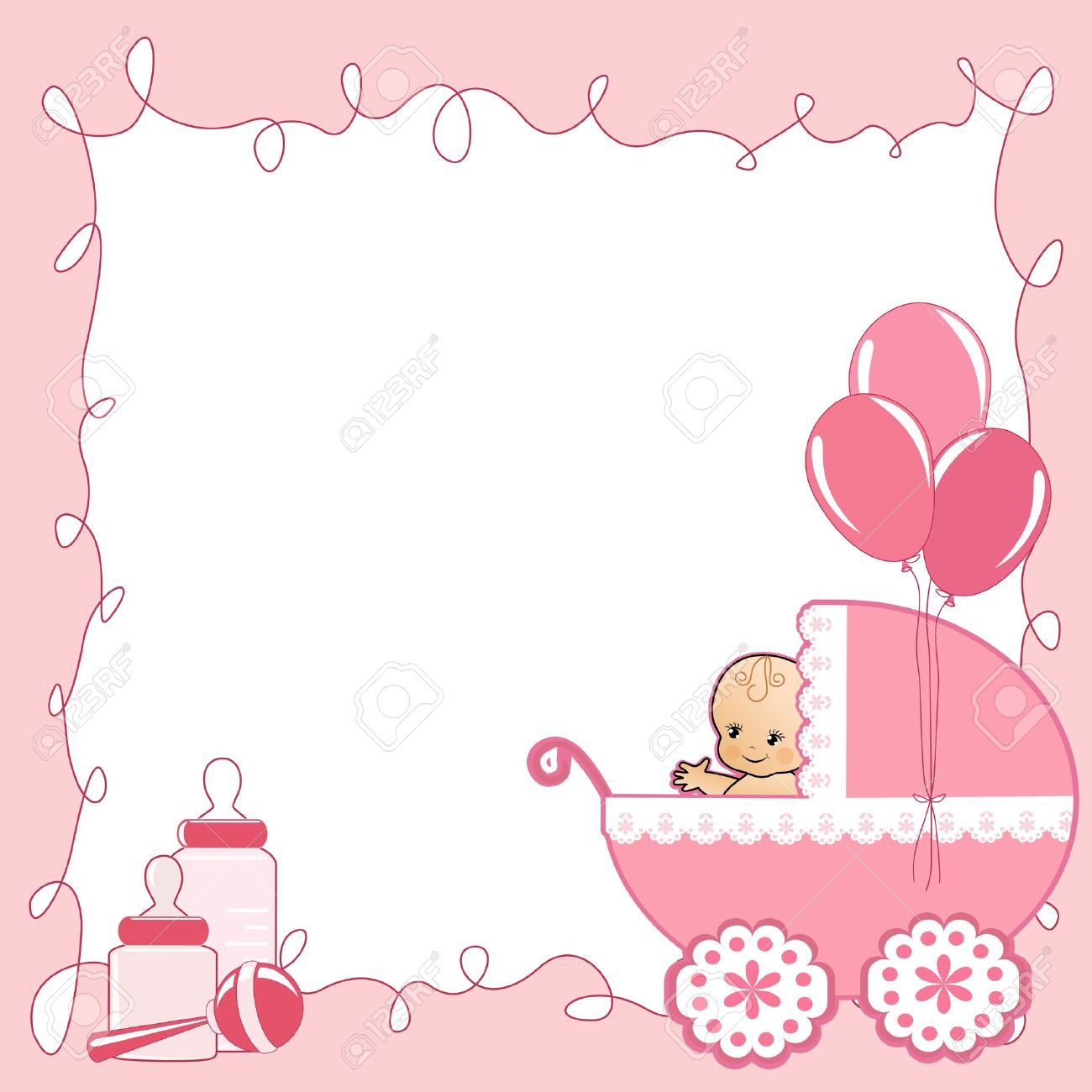 baby shower card stock vector 14155783