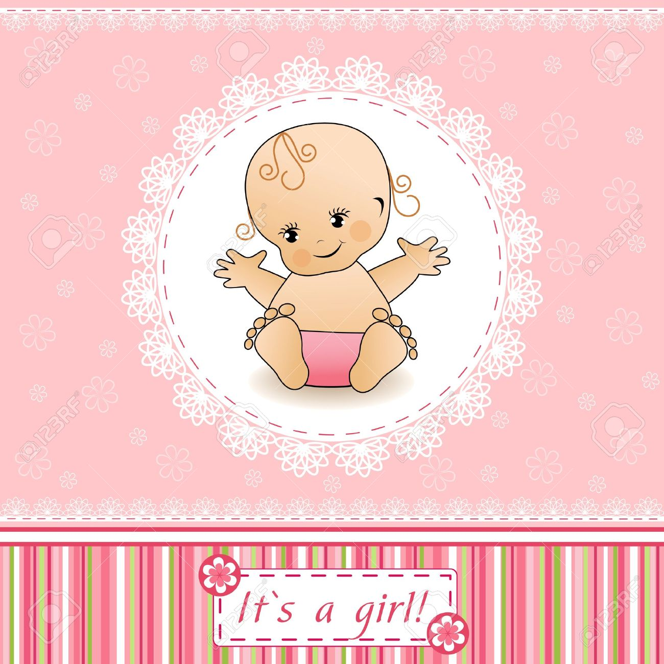 baby shower card royalty free cliparts, vectors, and stock, Baby shower invitation
