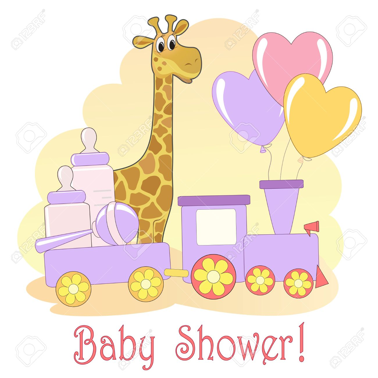 Baby Shower card Stock Vector - 14155759