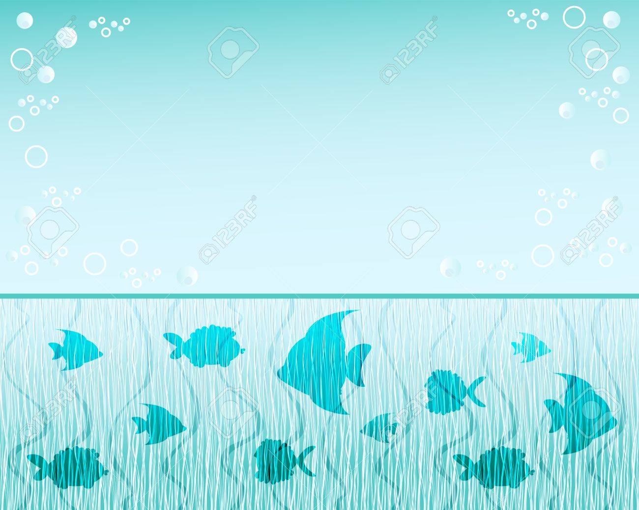 Fish Background Blue Water Vector Illustration Royalty Free ...