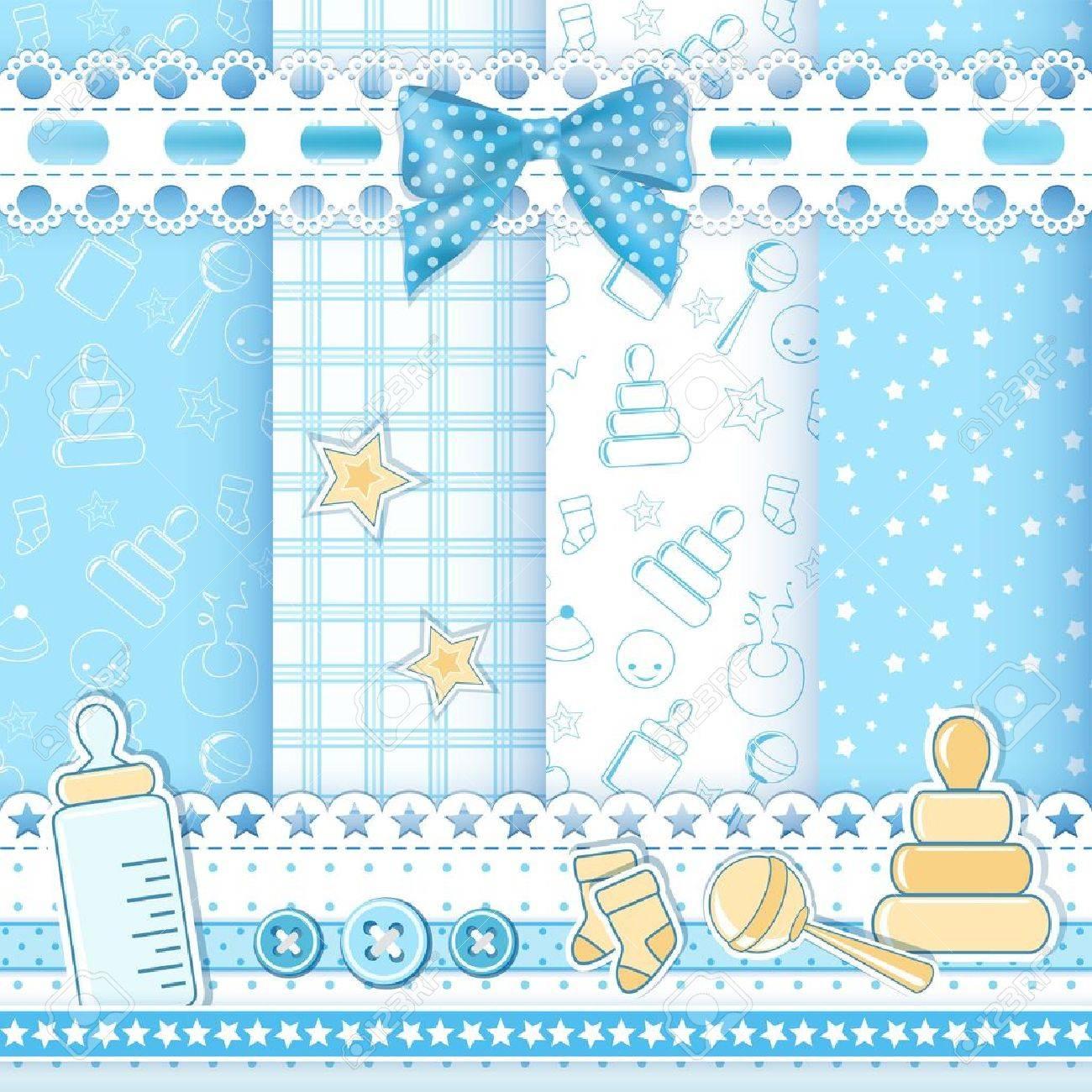 Set baby patterns  Vector illustration Stock Vector - 18253903