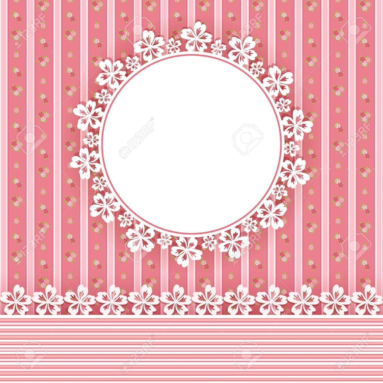 Floral background with frame  Vector illustration Stock Vector - 18253918