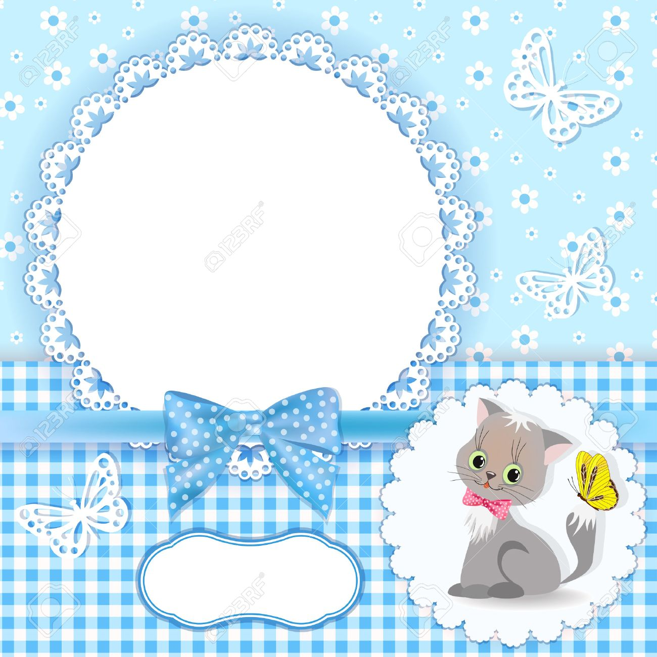 baby background with frame vector stock vector