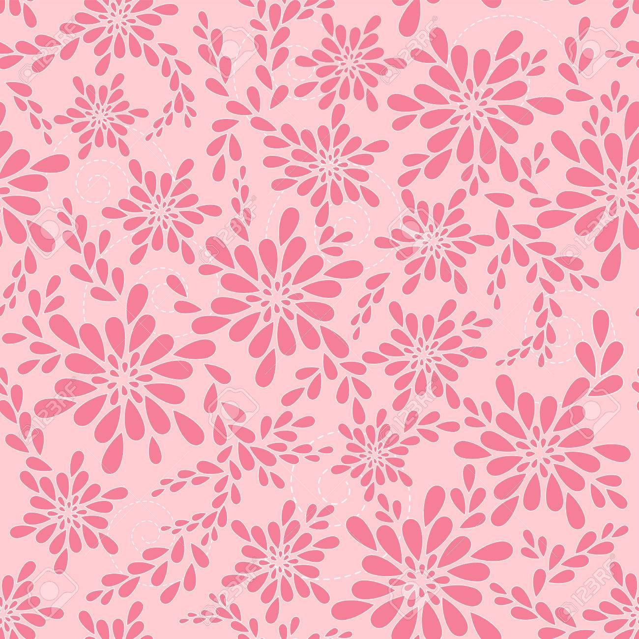 Pink floral patterns. Vector illustration. - 27439650
