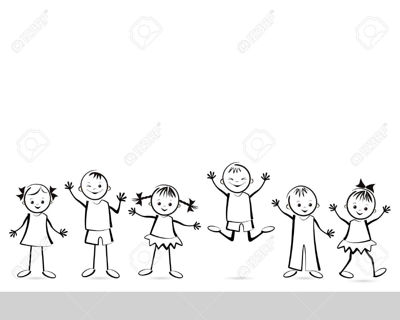 group of happy children vector illustration royalty free cliparts rh 123rf com children victorian chairs children victorian costume