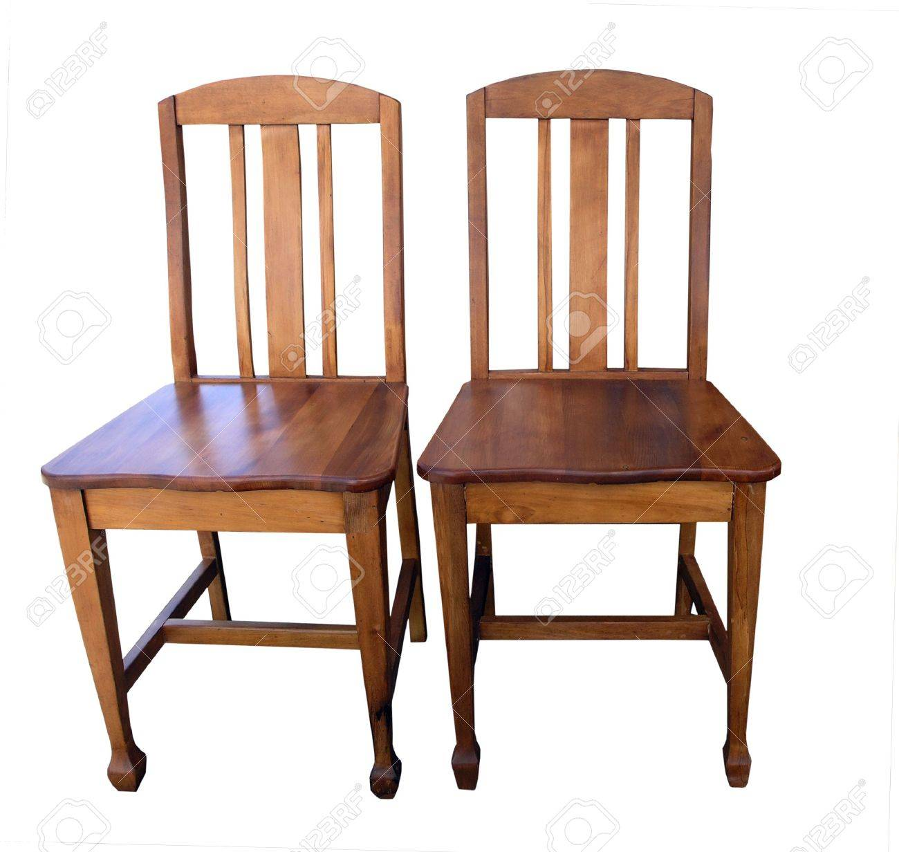 Antique wooden chair - Two Antique Wooden Chairs Stock Photo 2370926