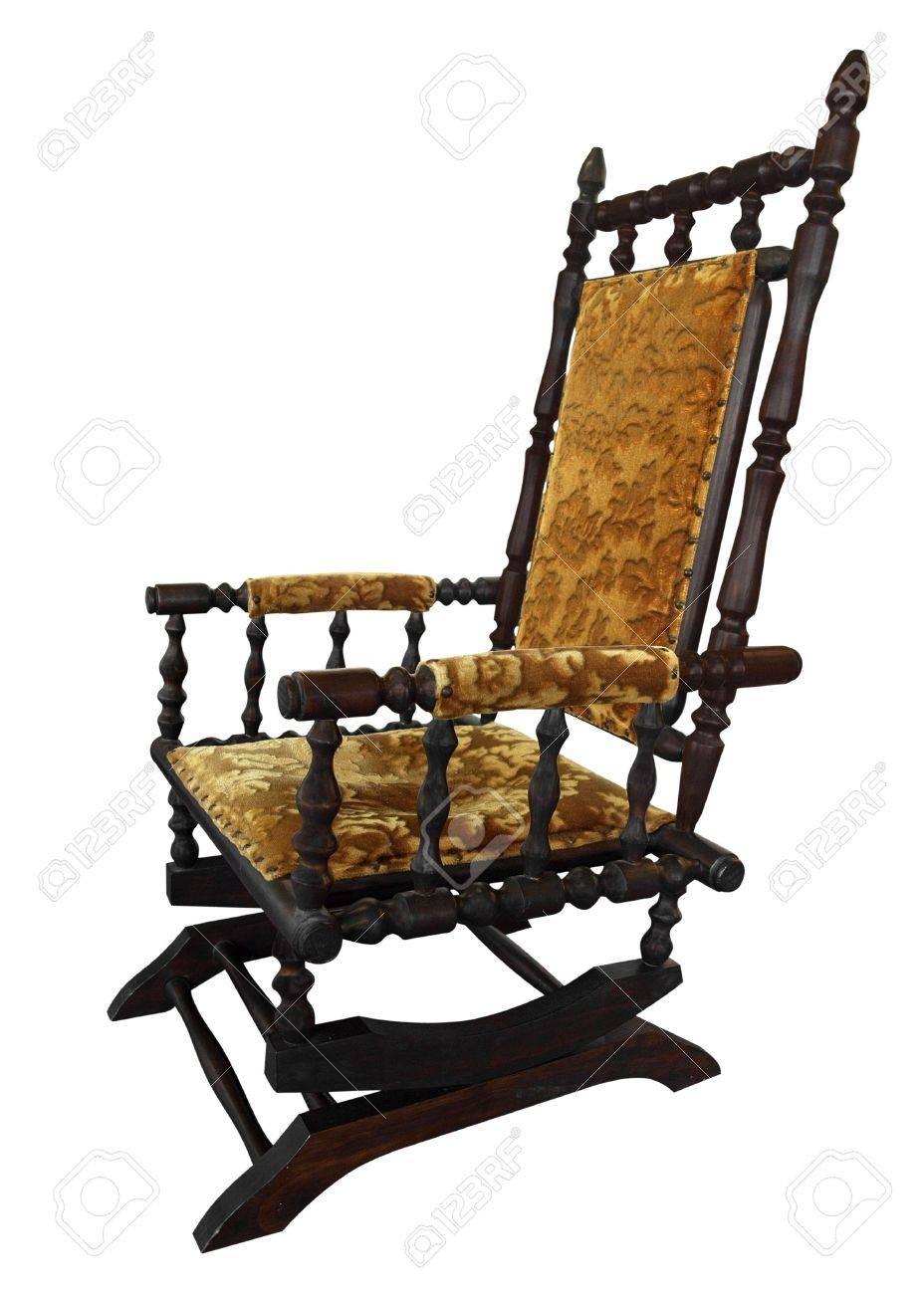Antique rocking chair - Antique Rocking Chair Isolated Stock Photo 5708596