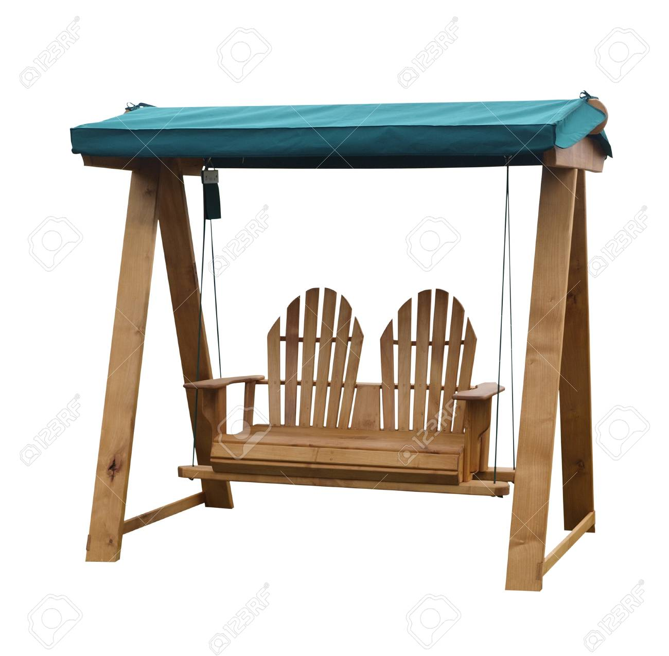 Wooden Garden Swing Seat Stock Photo Picture And Royalty Free Image