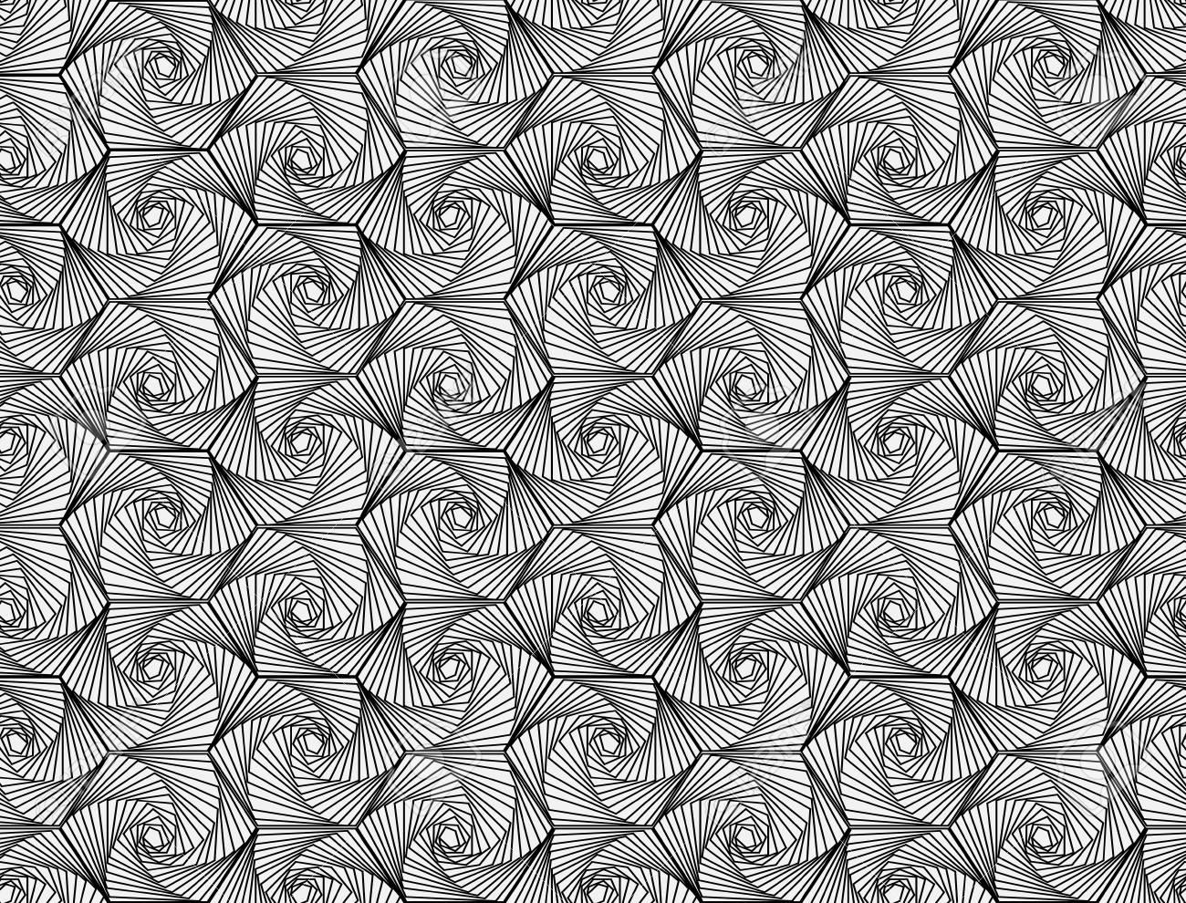 Zentangle Pattern Black And White Ornamental Seamless Vector