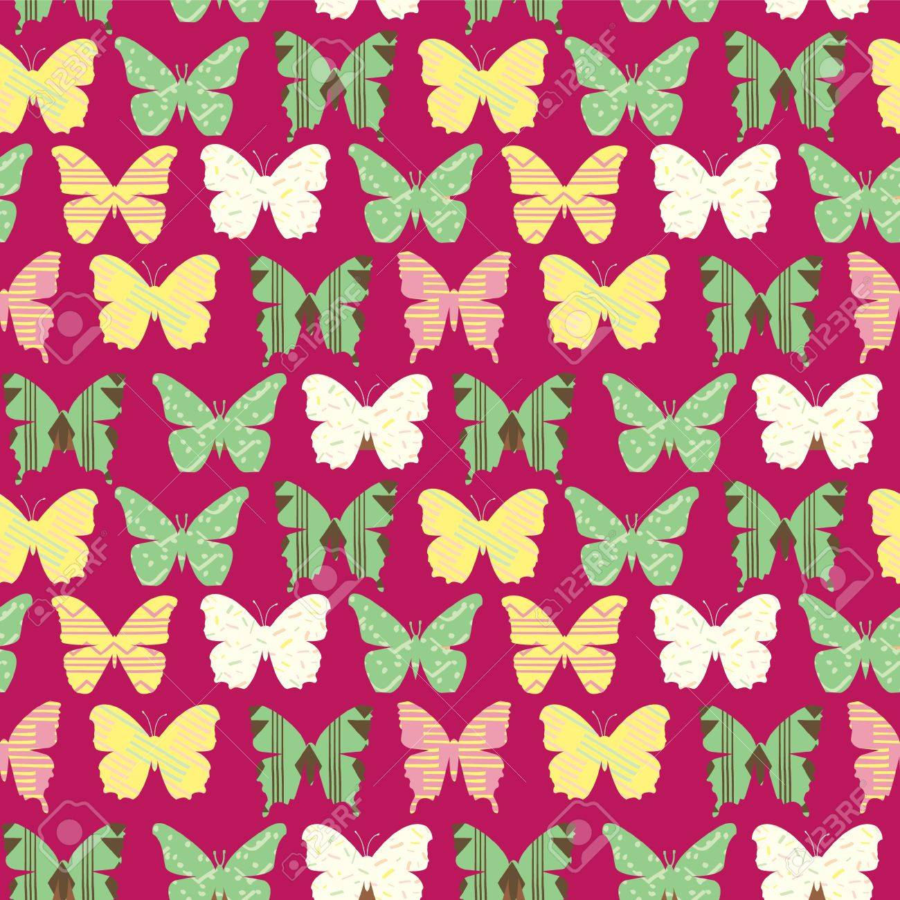 seamless pattern with colorful butterflies girly background with cute butterflies stock vector 86999578