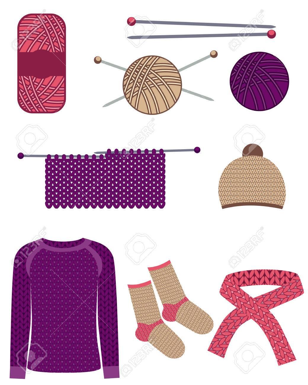Conjunto De Tejer. Tejer Suéteres, Calcetines, Gorro Y Bufanda ...