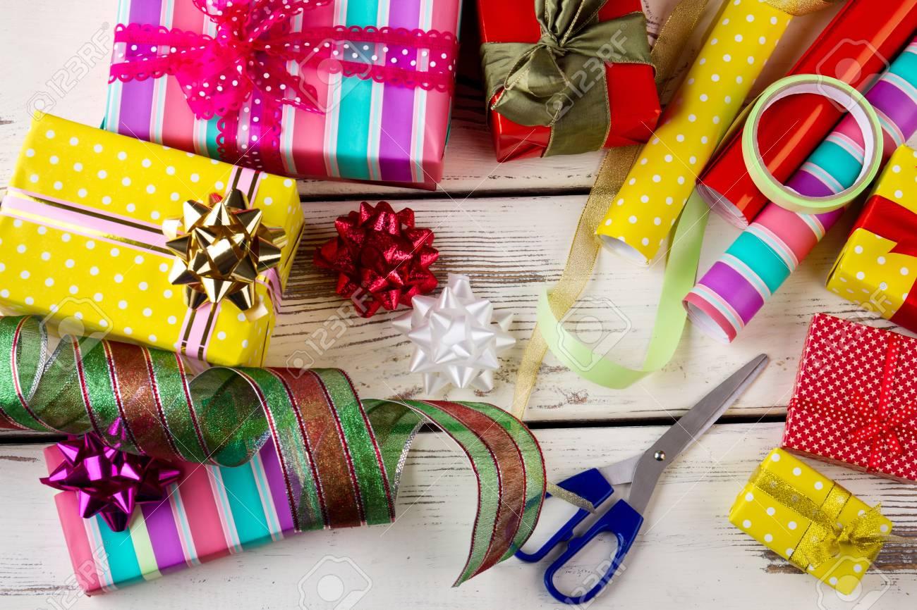 Christmas Presents, Wrapping Papers And Accessories. Active ...