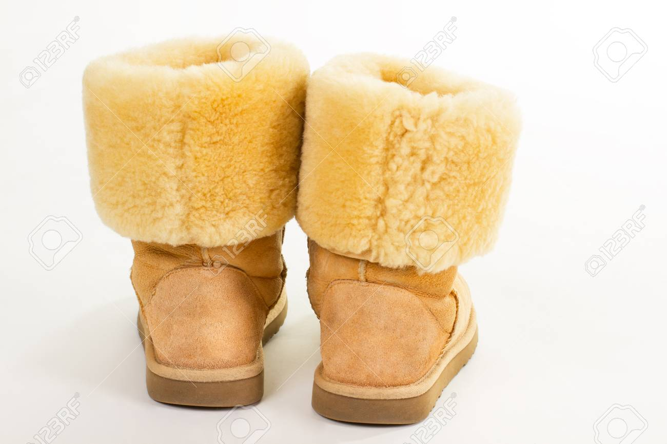 Stock Photo - Warm suede boots with sheep wool. Stylish women s boots for  winter. 65166d58c