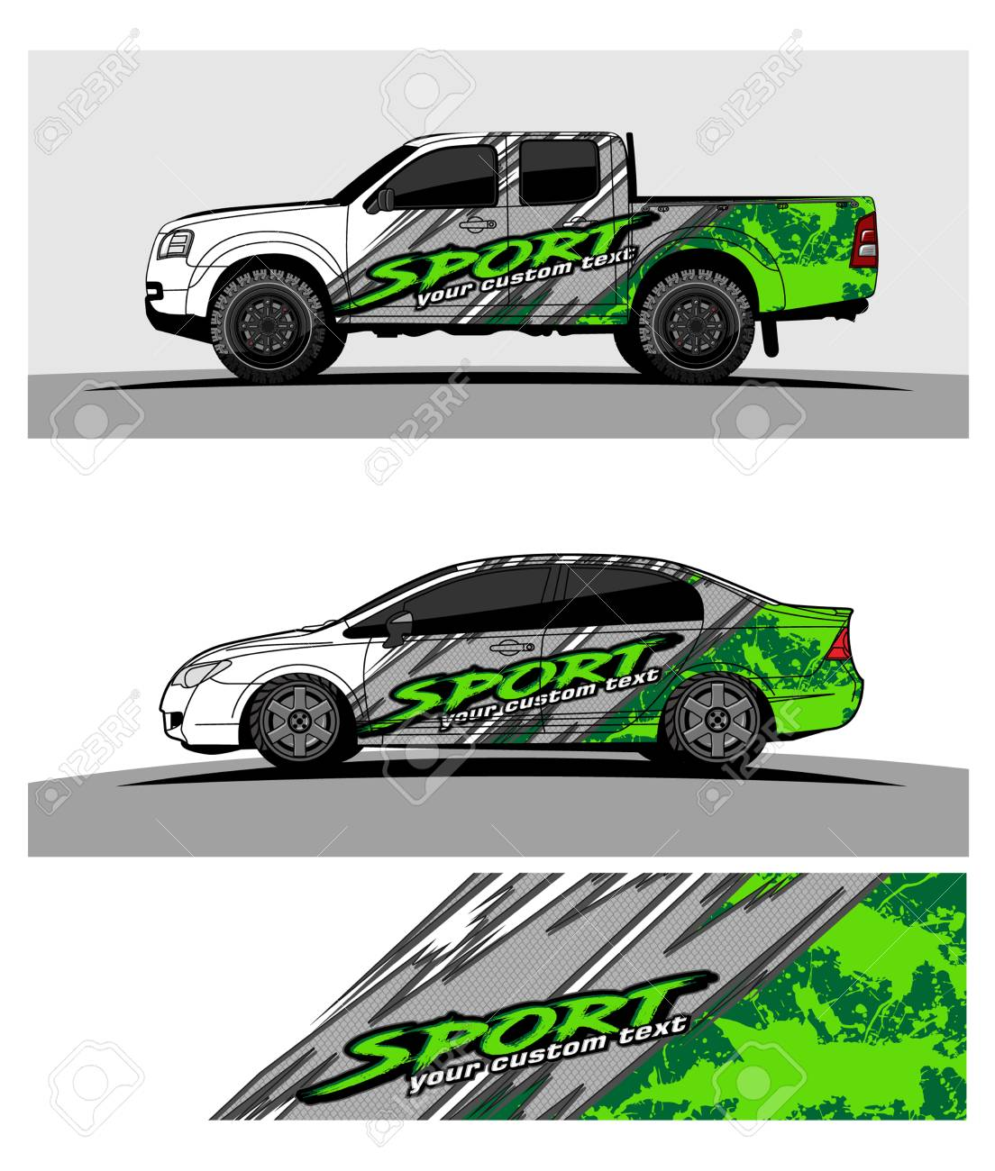 Car graphic vector abstract racing shape design for vehicle vinyl wrap stock vector 100260718
