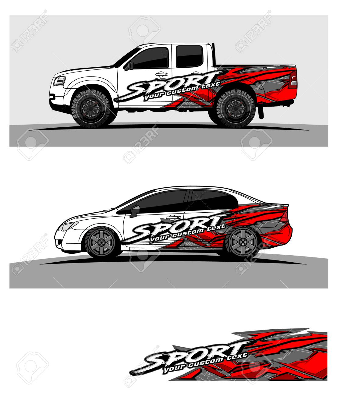 Car graphic vector abstract racing shape design for vehicle vinyl wrap stock vector 100256493
