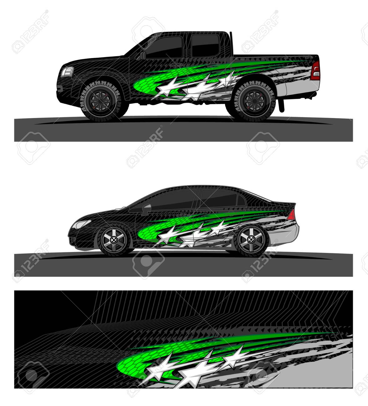 car livery Graphic vector  abstract racing shape design for vehicle