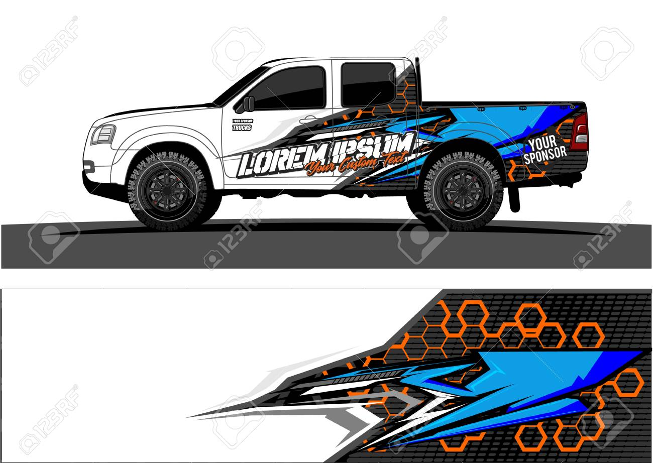 Abstract racing vector background for truck car and vehicles