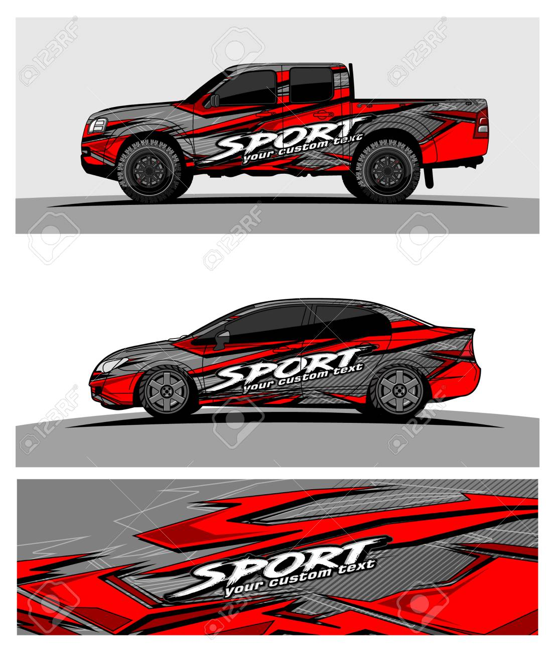 Abstract racing vector background for truck car and vehicles wrap design stock vector 100588863