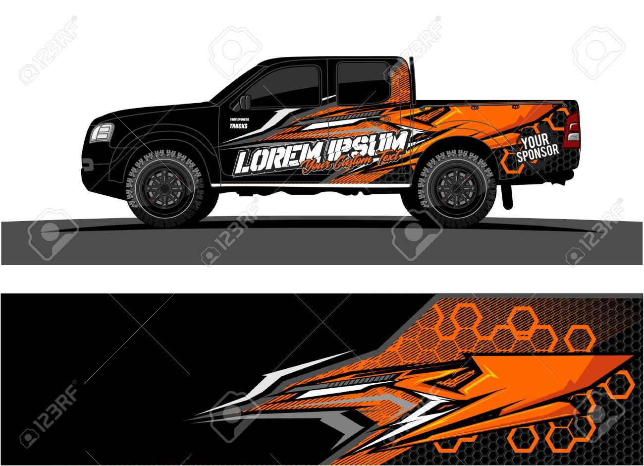 Abstract racing vector background for truck car and vehicles wrap design stock vector 100588866