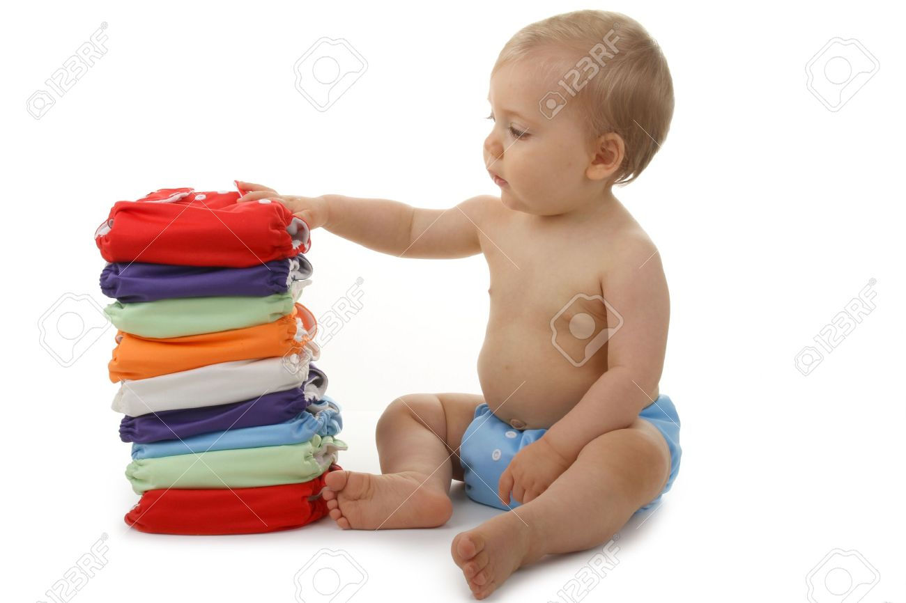 baby and diaper Stock Photo - 7648445