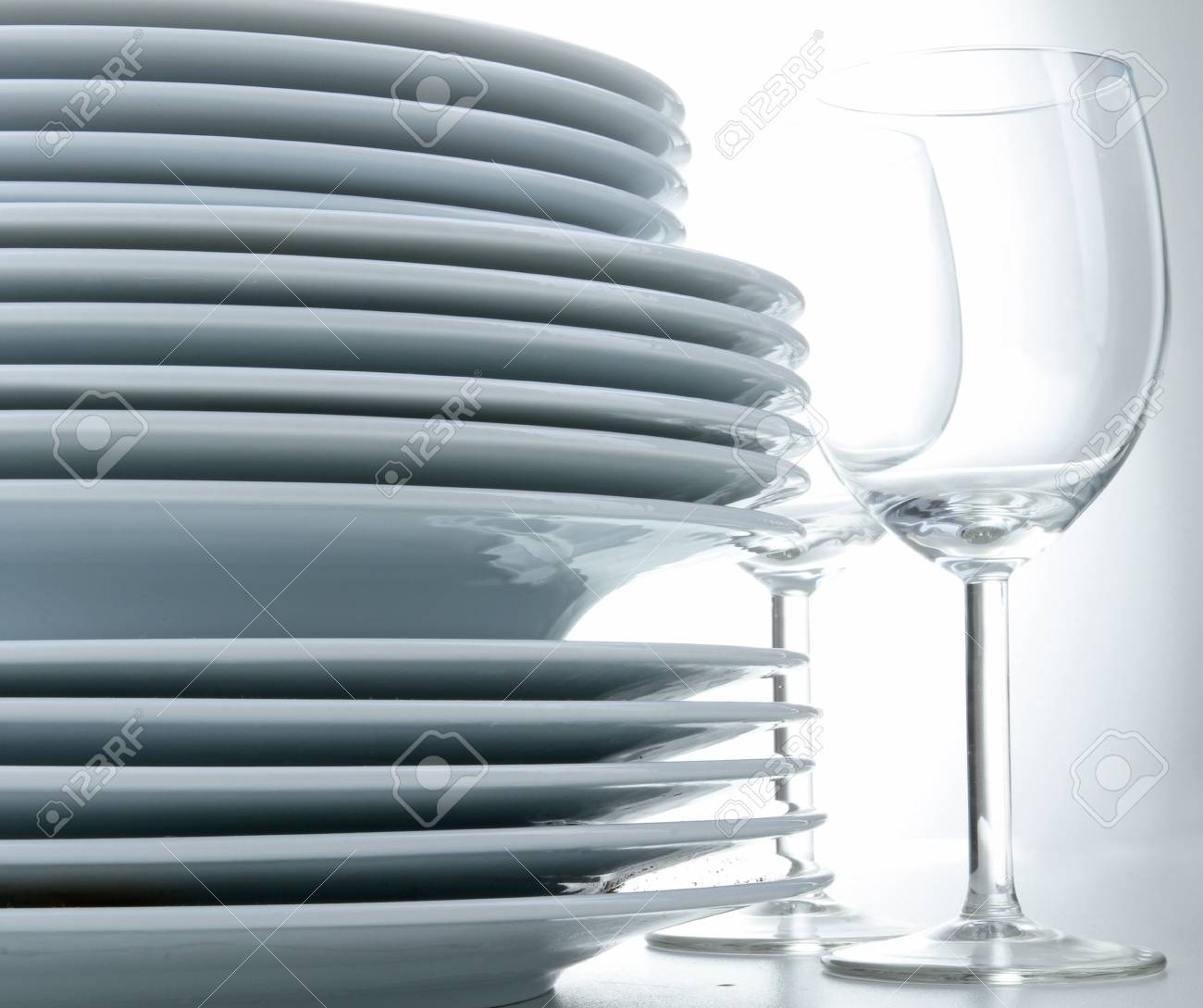 plates and glasses Stock Photo - 7832444