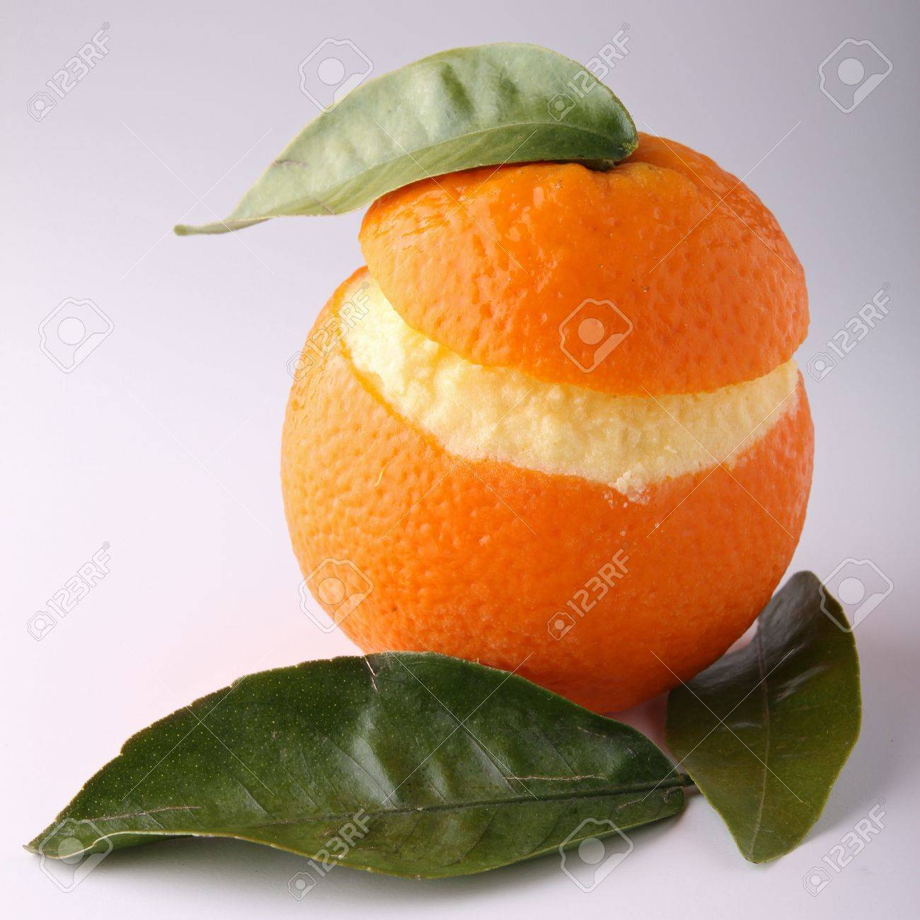 orange sorbet Stock Photo - 9457861