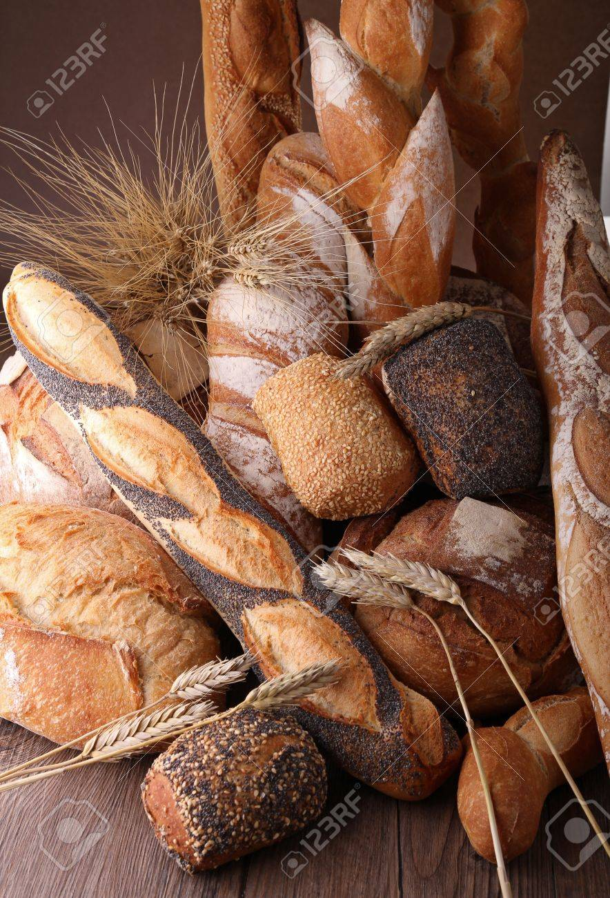 heap of bread and wheat Stock Photo - 10047246
