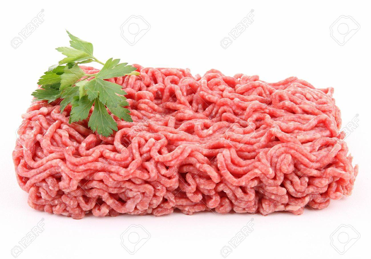 isolated raw minced beef Stock Photo - 11232610