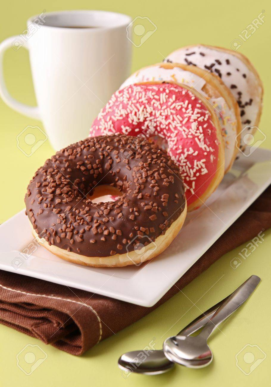 donuts and coffee cup Stock Photo - 12021511