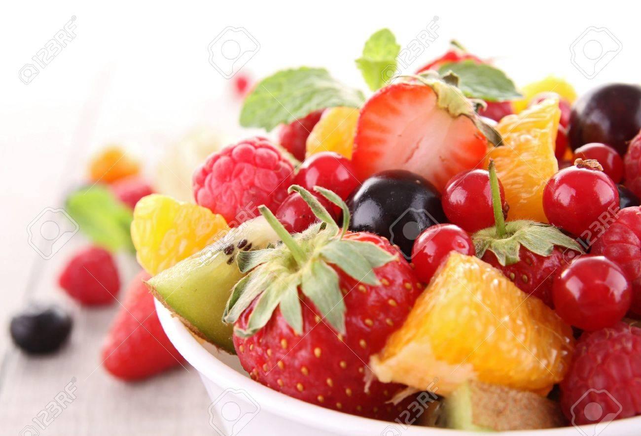 isolated fruit salad - 13314331