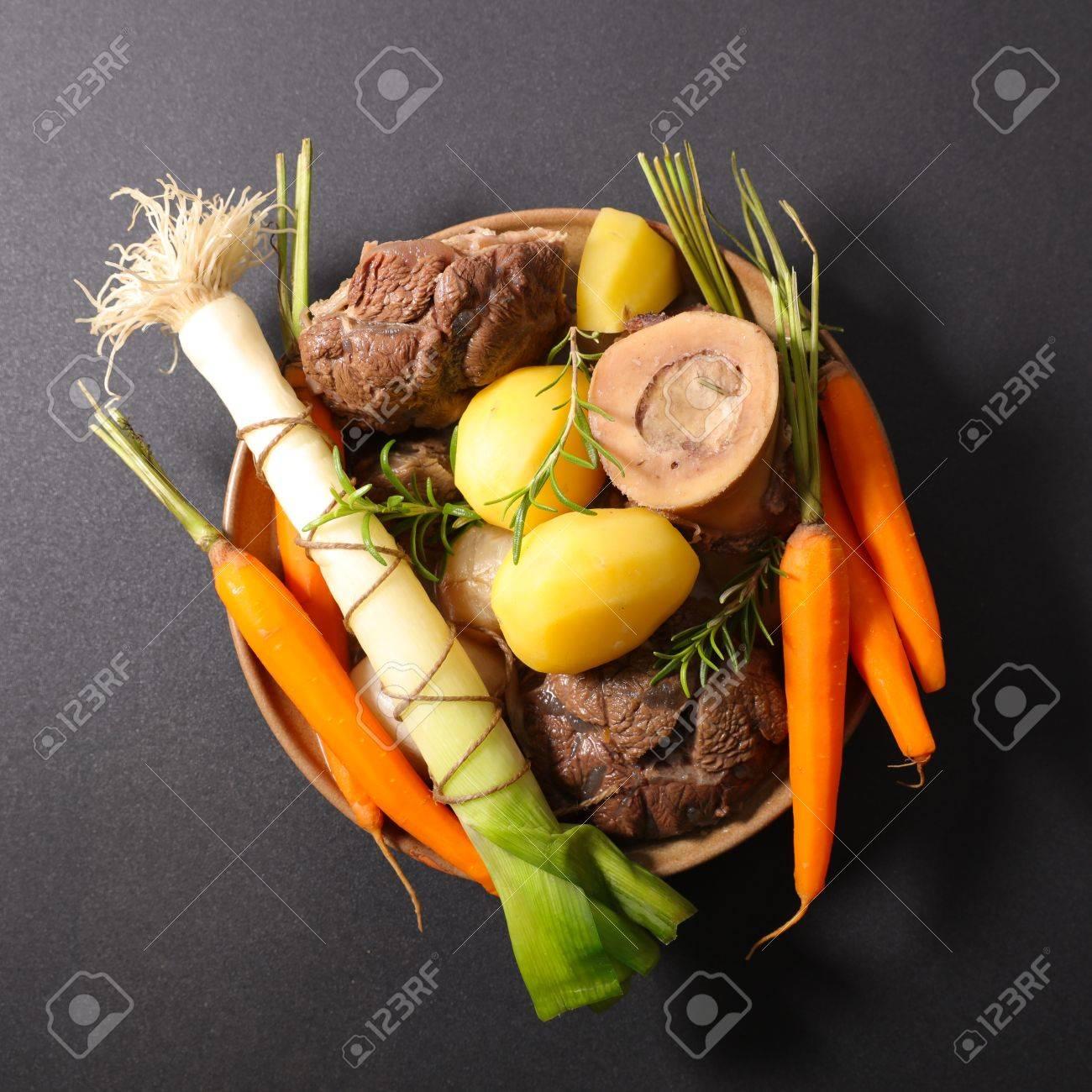Rindfleisch Mit Gemüse Pot Au Feu Lizenzfreie Fotos Bilder Und