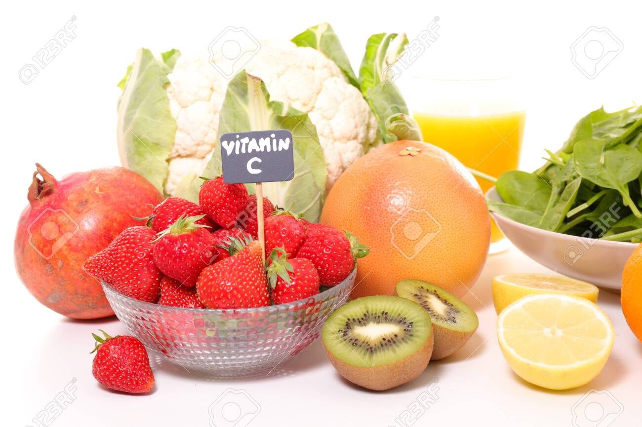 selection of food high in vitamin C - 148481879