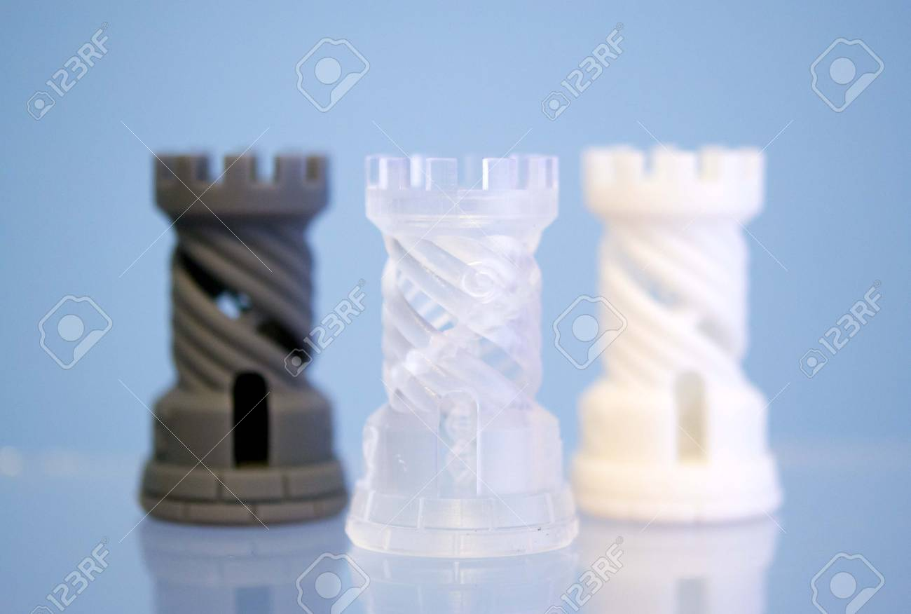 Three Objects Photopolymer Printed On 3d Printer