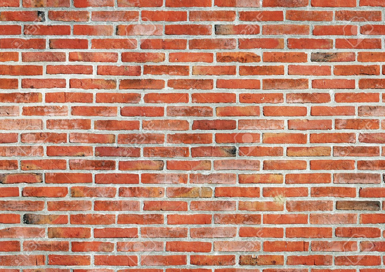 Red brick wall seamless background. Stock Photo - 12200371