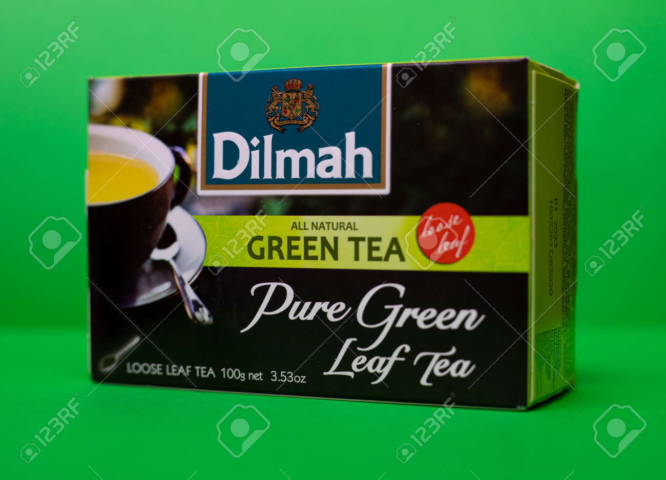 Dilmah tea. Natural pure green leaf tea. 01/06/2021. Warsaw, Poland - 162097093