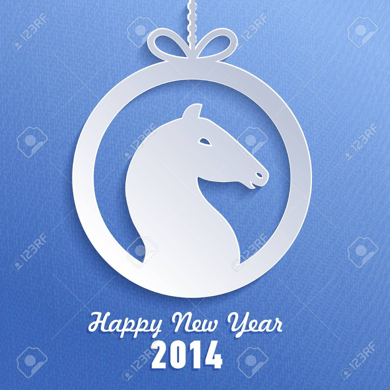 illustration year of the horse happy new year card vector illustration