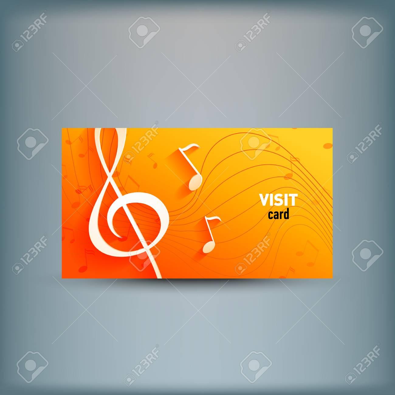 Plantilla Para Publicidad E Identidad Corporativa. Clave De Música Y ...